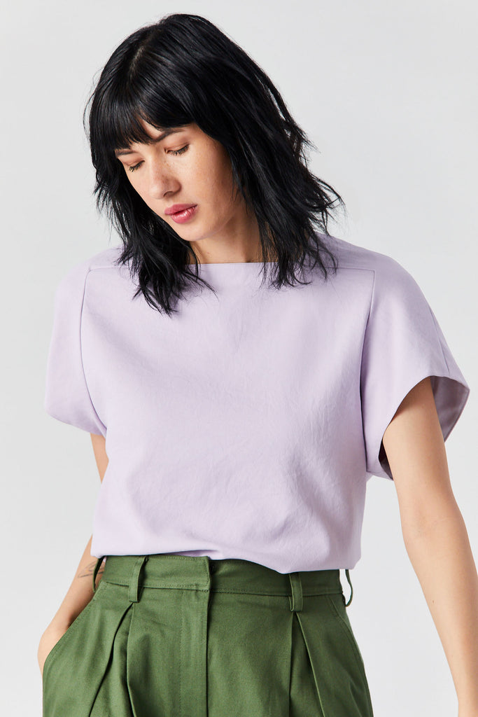 Square Neck Top, Lavender