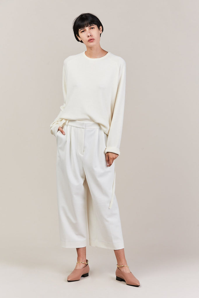 stella culotte with stripe, white