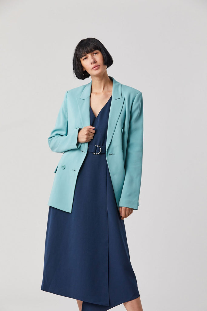 Tibi Steward Blazer, Egg Blue