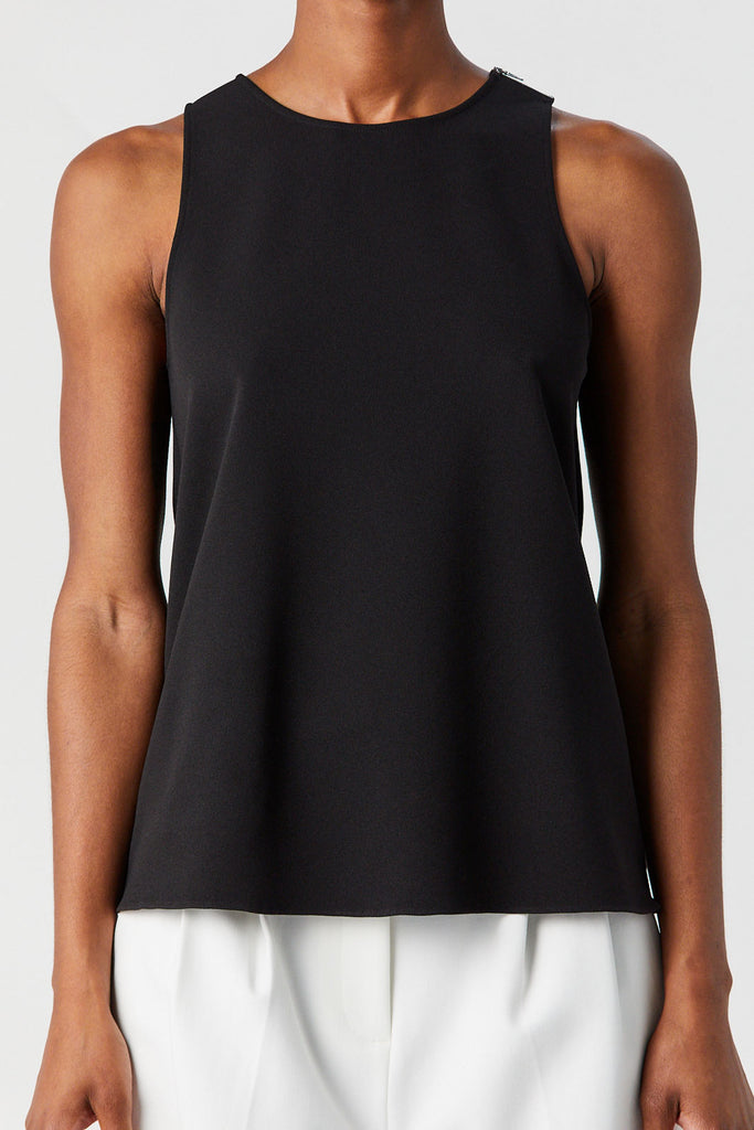 TIBI - Tank with Twist Back, Black