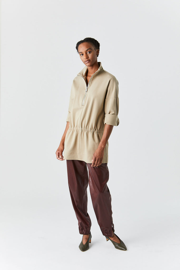 Knit Tunic Top, Oatmeal