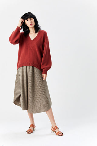 Airy Extrafine Sweater, Dusty Red