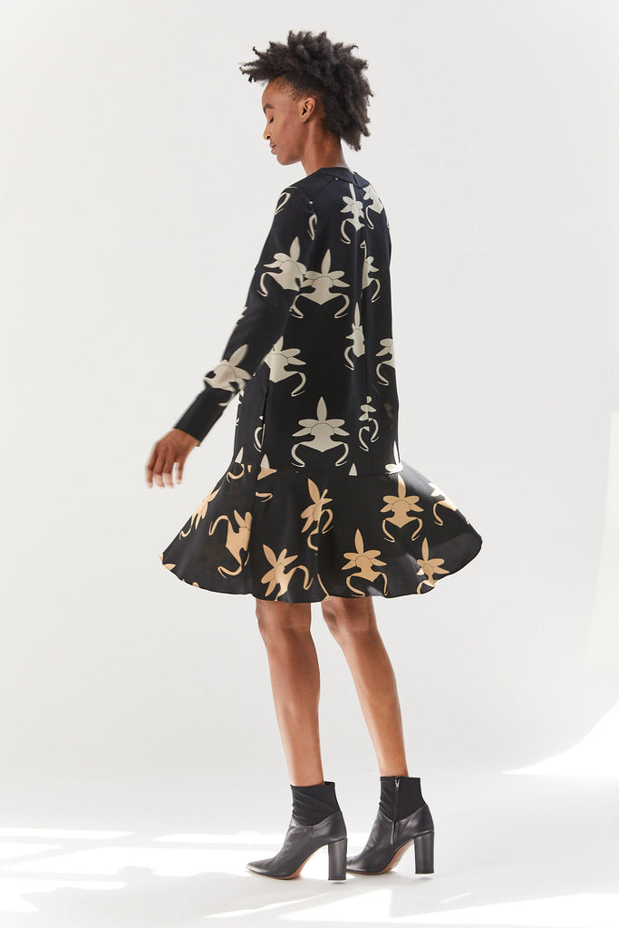 Ghost Orchid Dress, Black