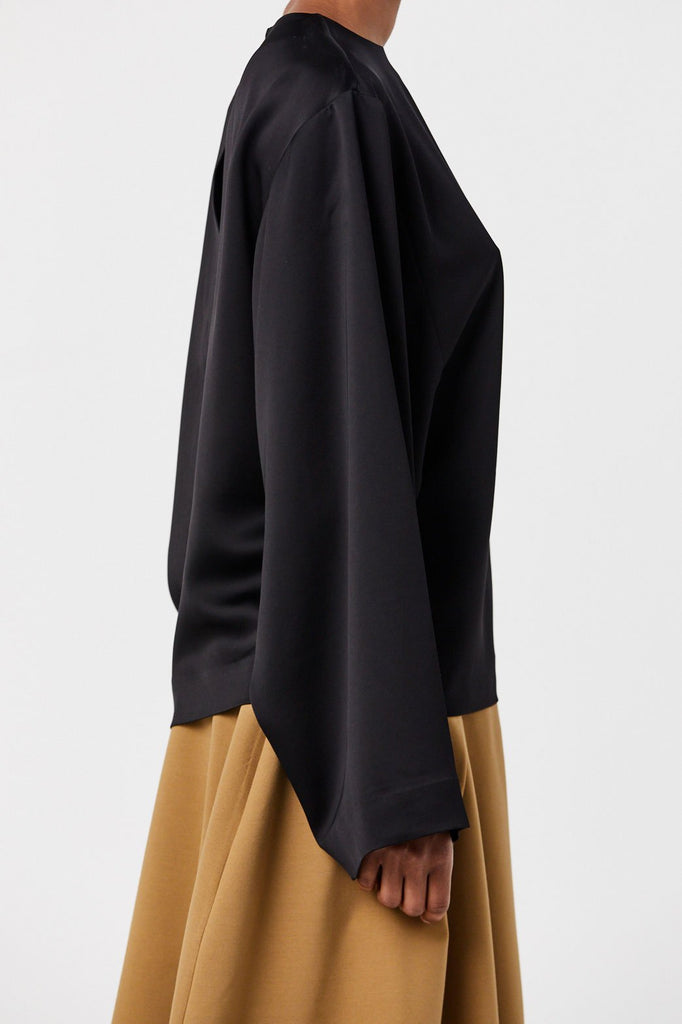 Totême - Avila Oversized Blouse, Black