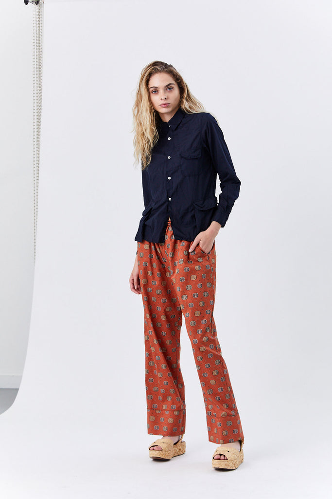 Natal Trousers, Rust Print
