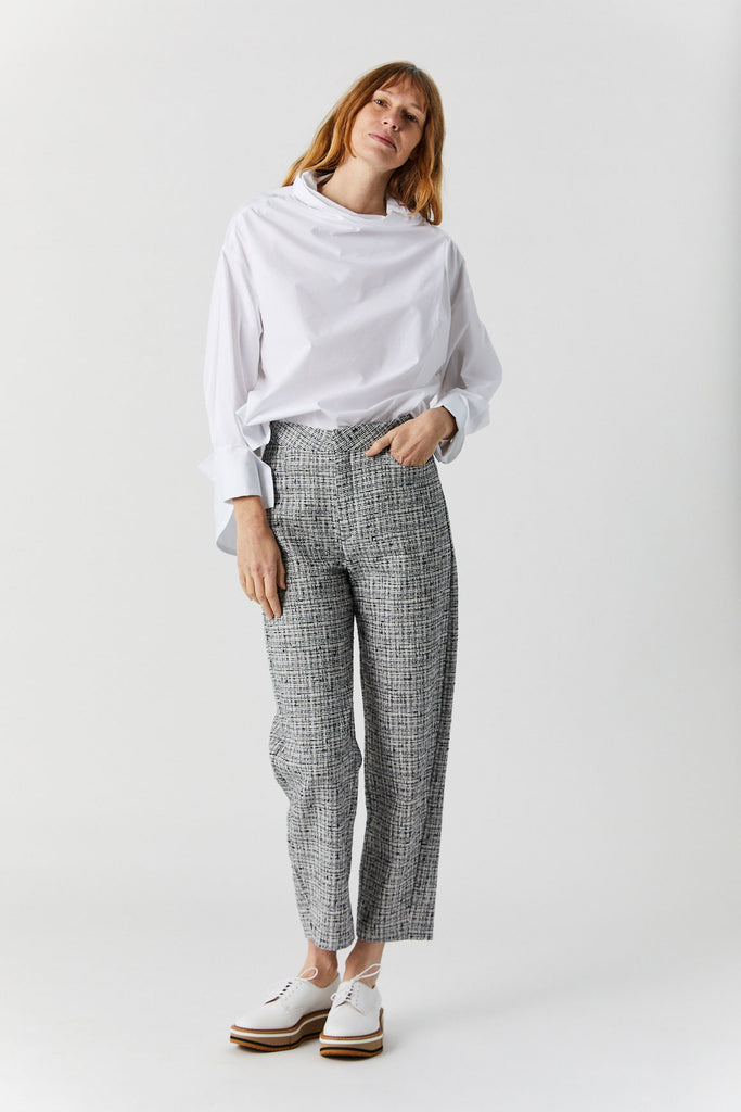 Totême - Novara Trouser, Black & White
