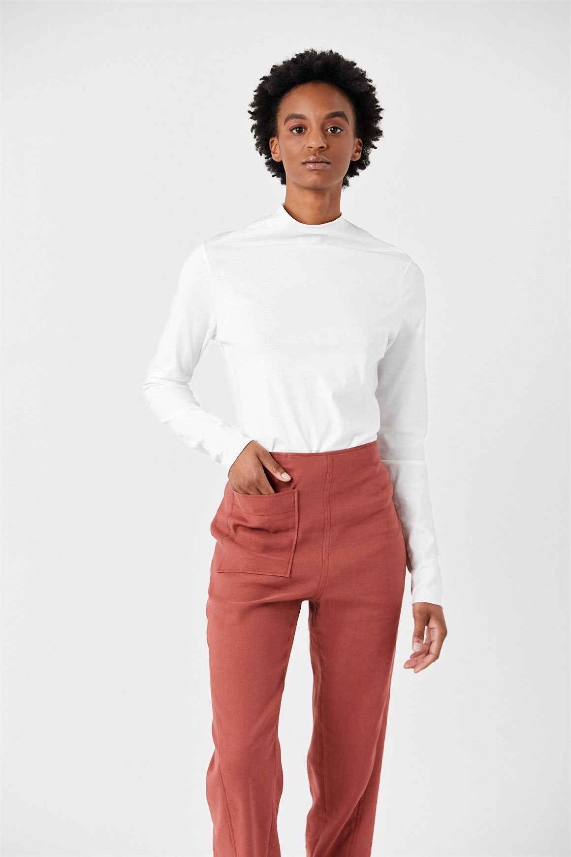 Totême - Pompei High Neck Sweater, White