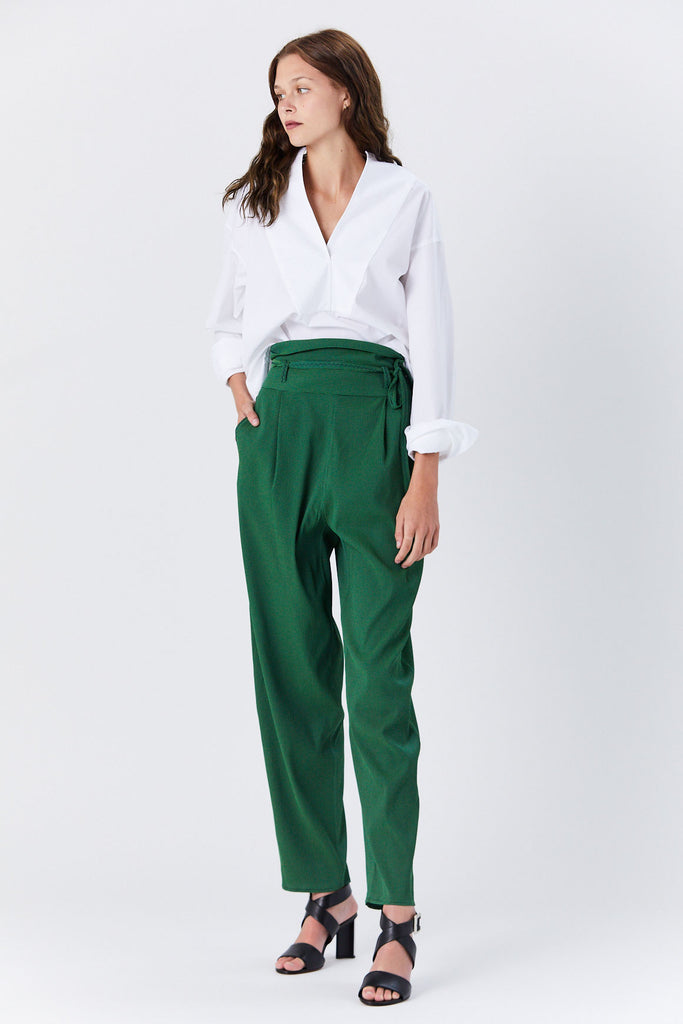 Veronique Leroy - Belted Pant, Green