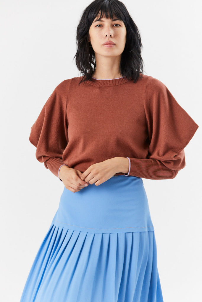 Crewneck Knit Top, Cedar