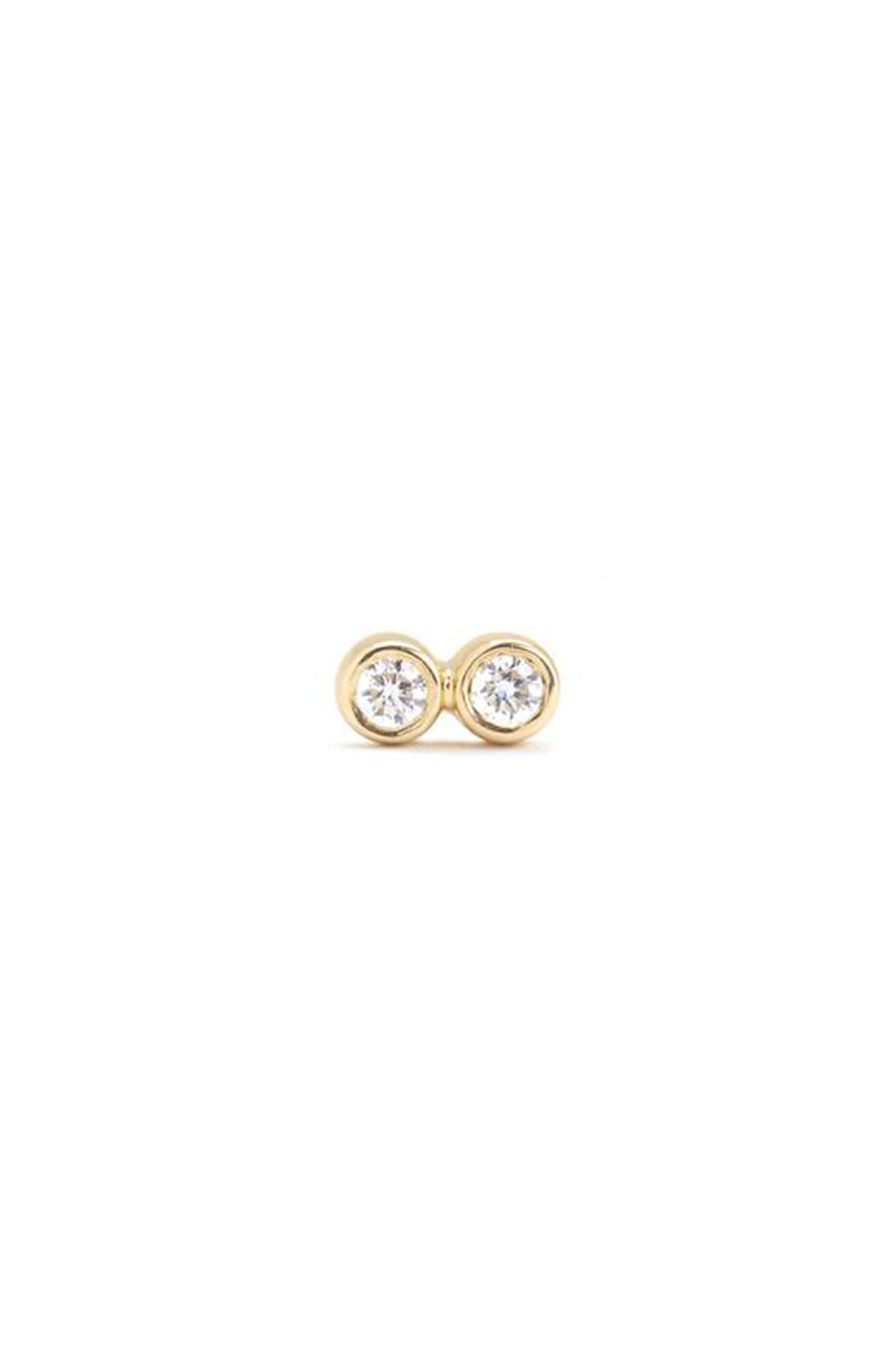 SCOSHA - tiny infinity studs, diamond
