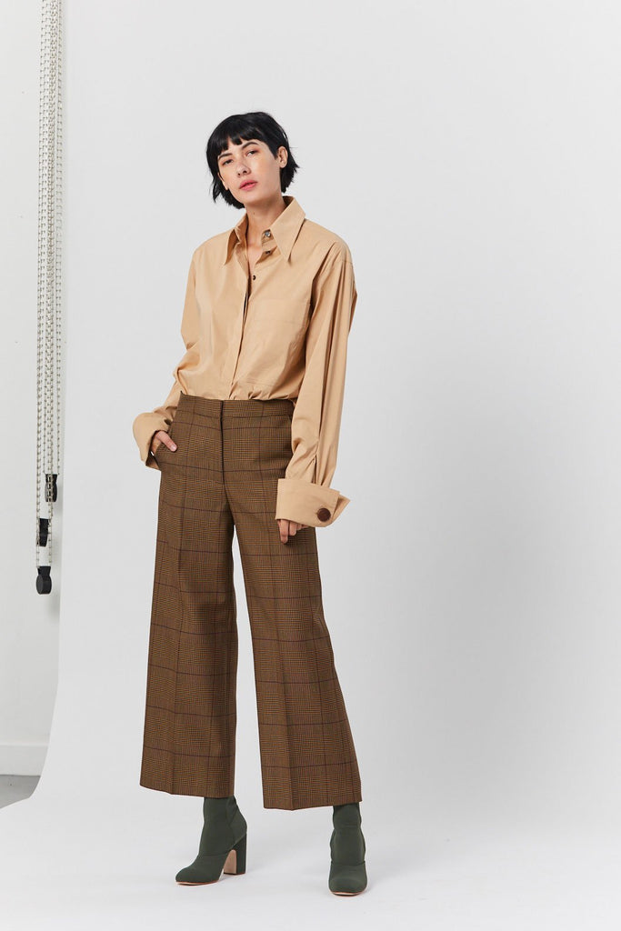 Connor Check Pant, Brown