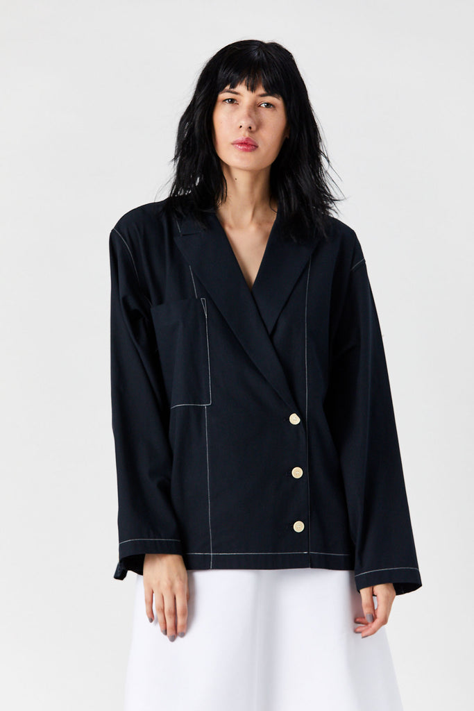 Estelle Shirt Jacket, Navy