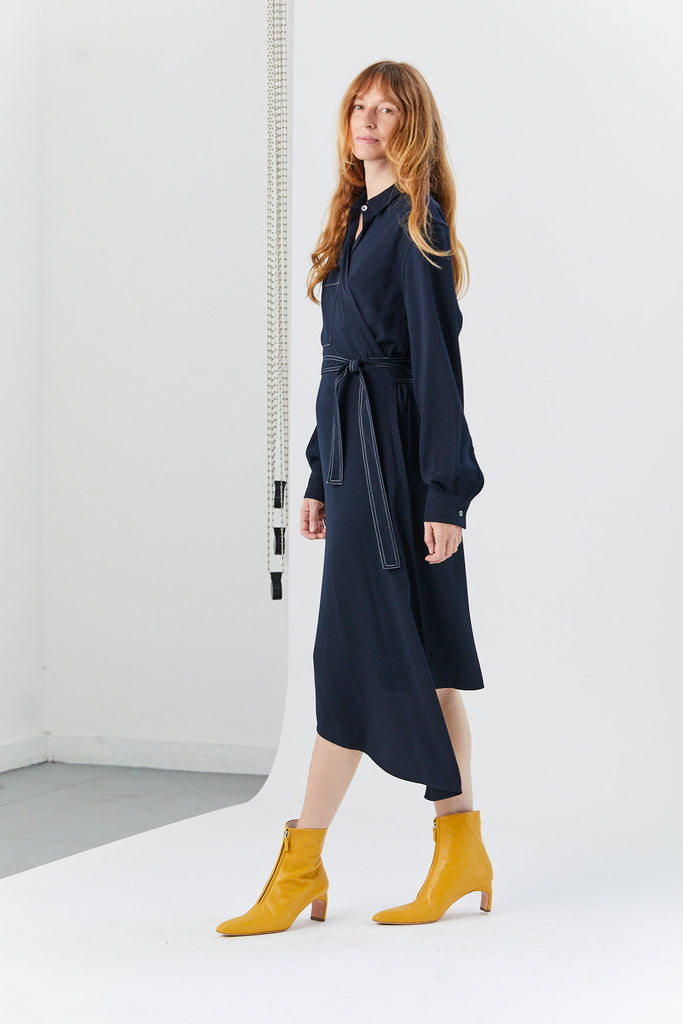 YUNE HO - Esther Shirt Dress, Navy