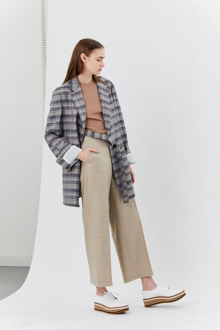 Jana Tailored Jacket, Blue Check