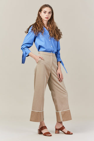 katie v neck silk shirt