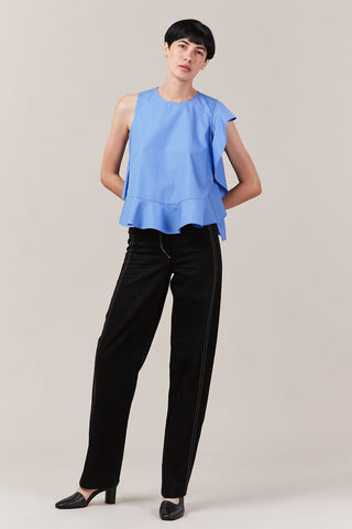 lucia ruffle top, french blue