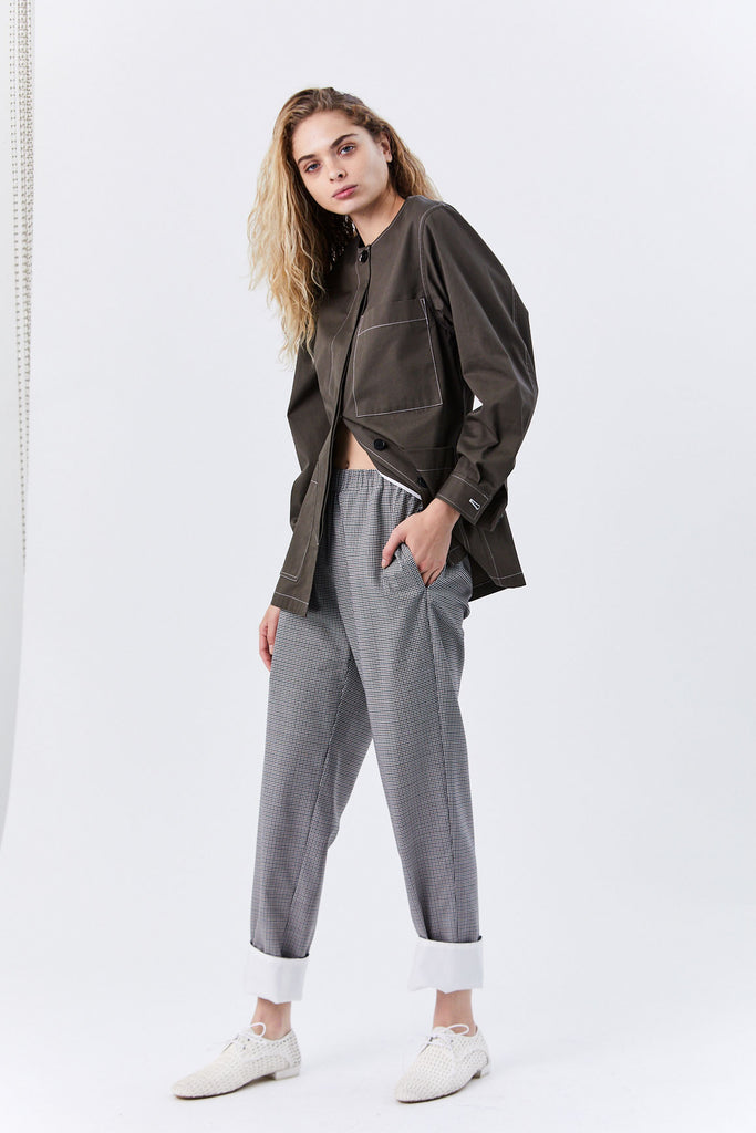 Yune Ho - Molly Pull on Pant, Check