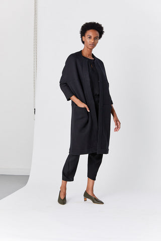 Hexagon Coat, Black