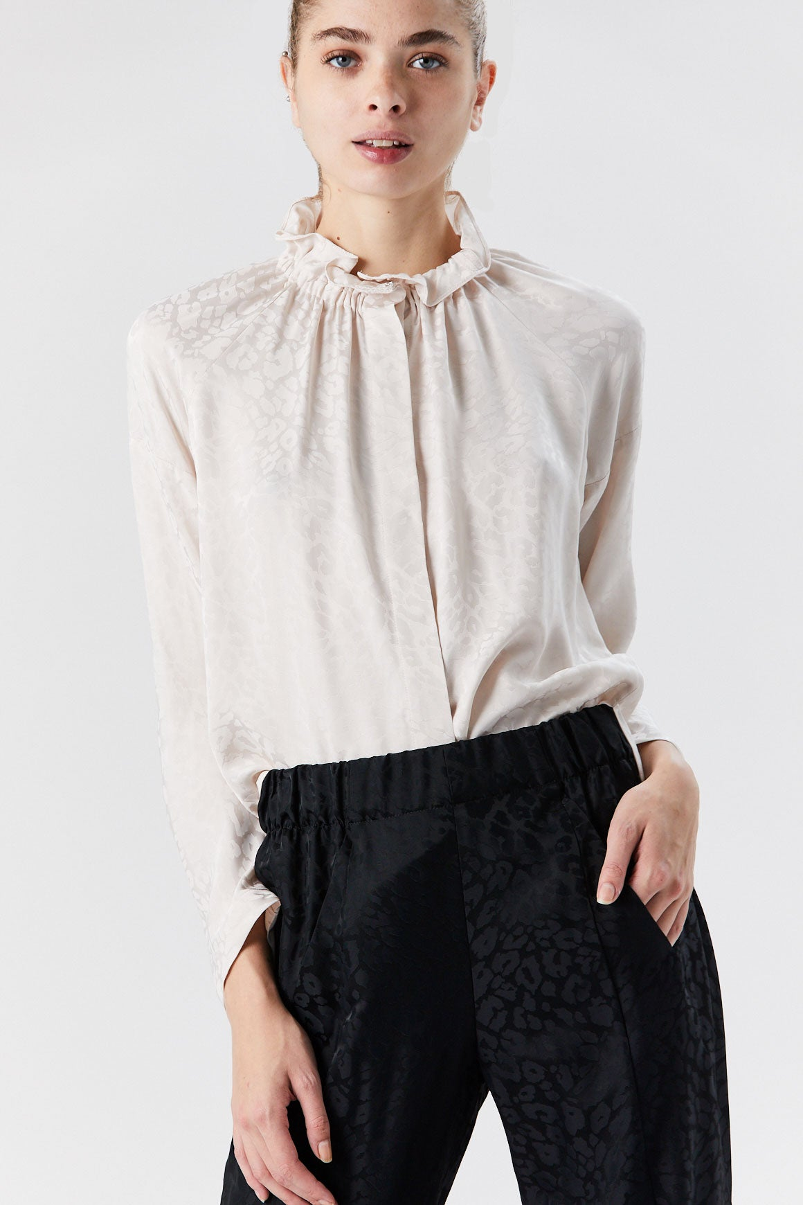 Zero + Maria Cornejo - Long Sleeve Ram Gaban Top, Pearl