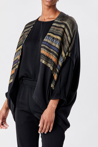 Mala Shrug, Black/Gold Multi