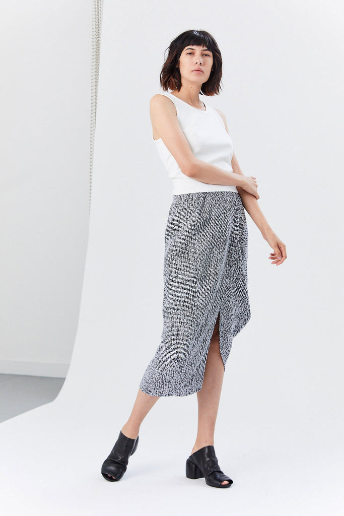 Mio Skirt, White/Black
