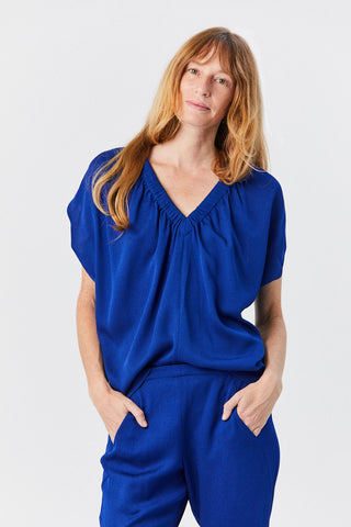 Ruched Tilly Top, Violet