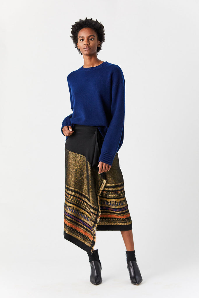 Wrap Miro Skirt, Black & Gold