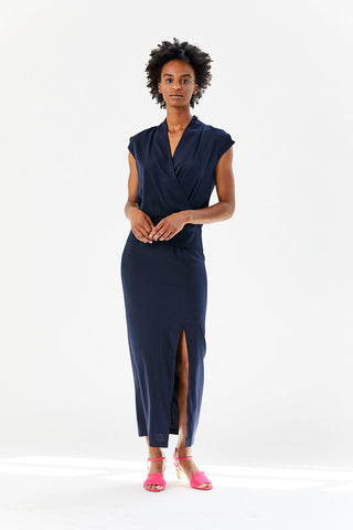 Long Wrap Tasmeen Dress, Inkjet