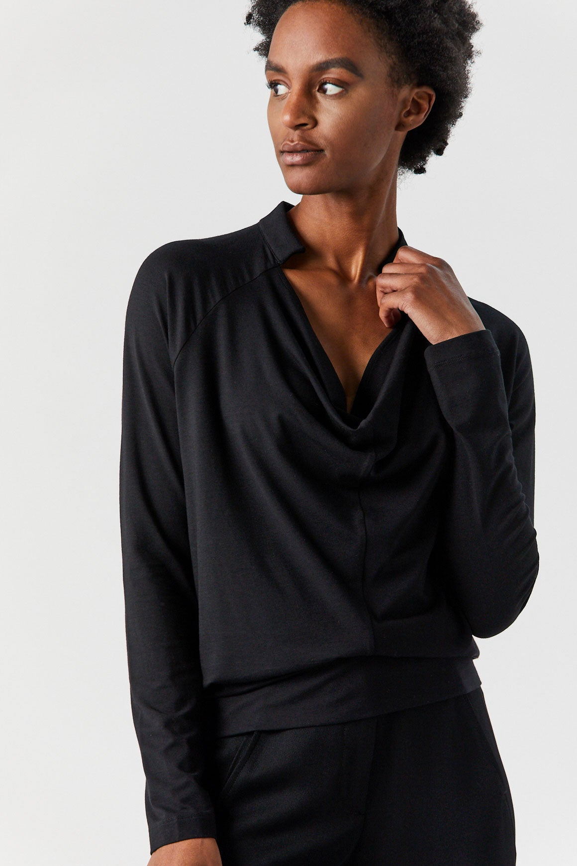 Zero + Maria Cornejo - Long Sleeve Evi Top, Black
