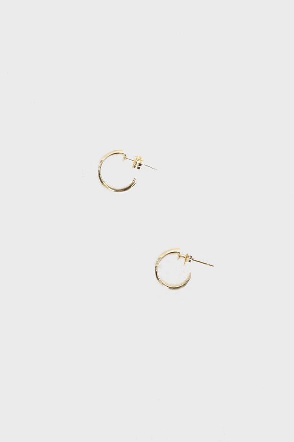 wide ripple hoops pair, gold
