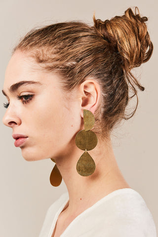 Thea Earrings, Gold