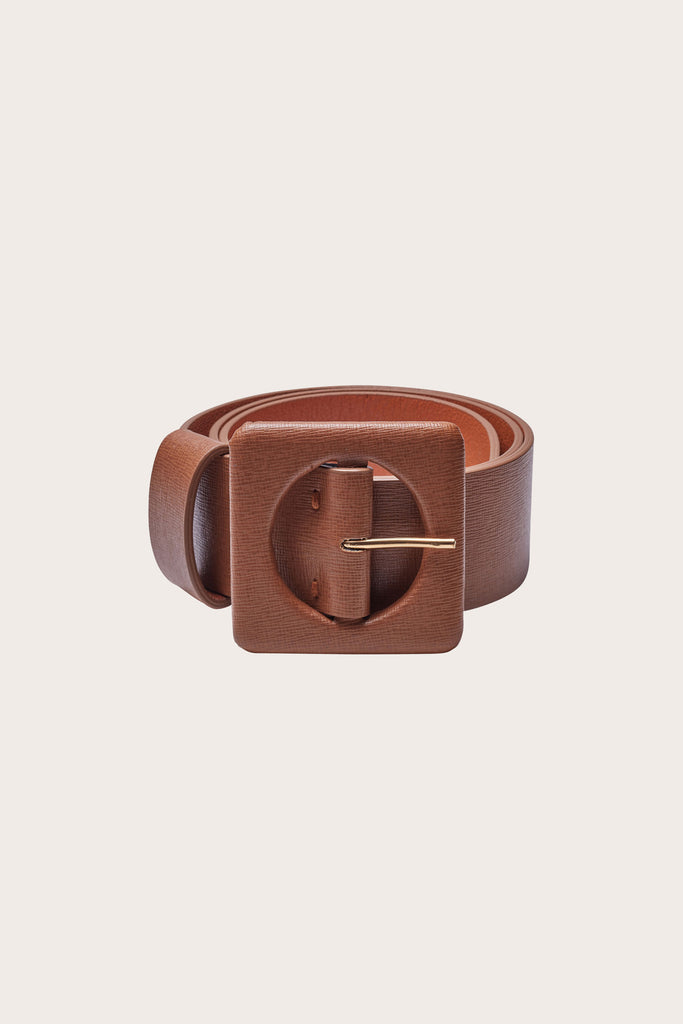 Agnes Belt, Tan Leather