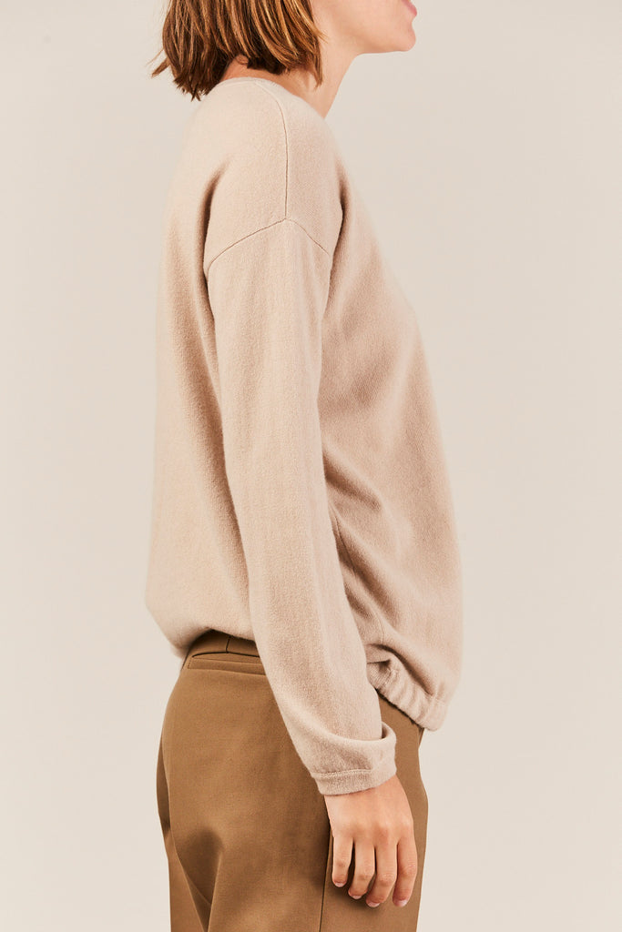 Allude - Cashmere Waist Tie Sweater, Taupe
