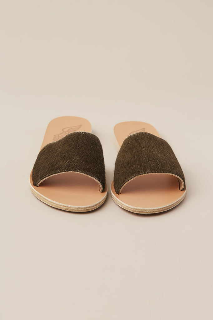 Taygete Sandal, Pony Khaki by Ancient Greek Sandals