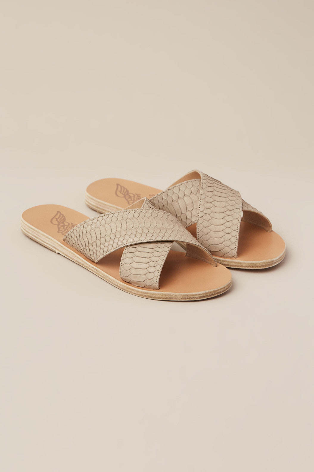Thais Sandal, Snake Taupe by Ancient Greek Sandals