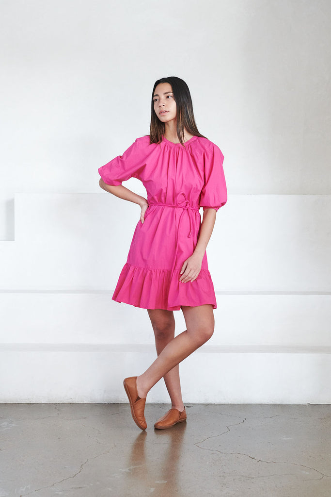 Apiece Apart - emelian mini dress, azalea