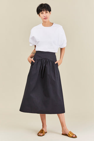 Jupe long skirt, Navy