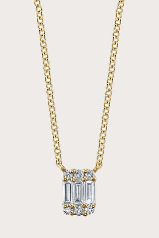 Baguette Axis Necklace, Gold