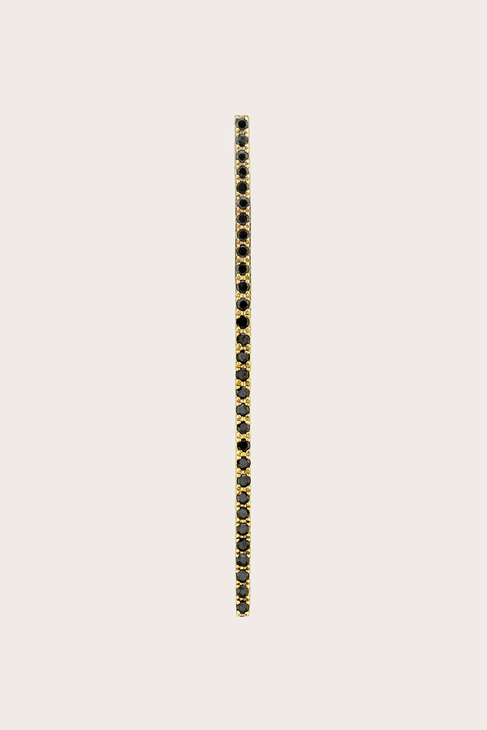 Gabriela Artigas - Bar Axis Earring, Gold & Black Diamond