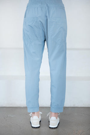 BASSIKE - utility cotton jersey pant, denim blue