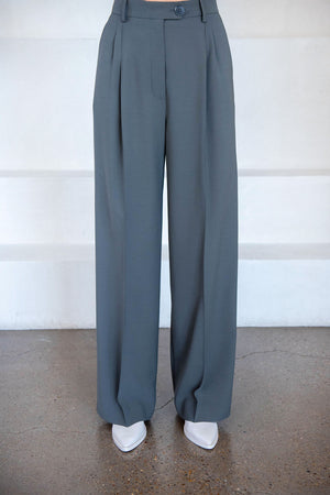 BEAUFILLE - burnell trouser, pewter