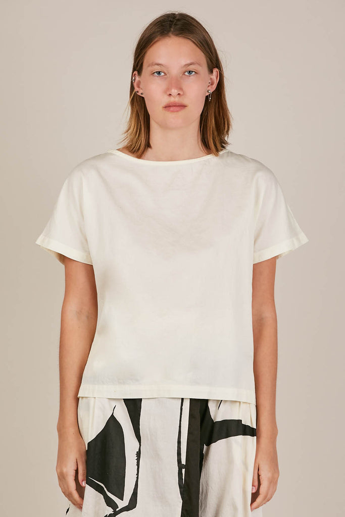 Boatneck top, Eggshell