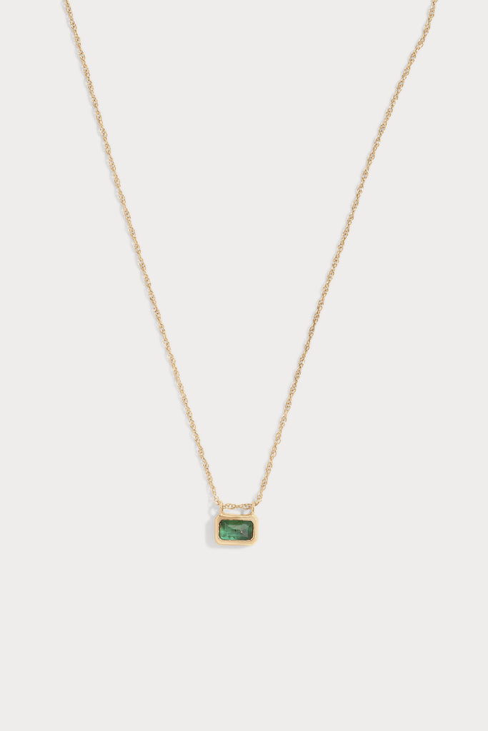 Phillipa Necklace, Gold & Emerald