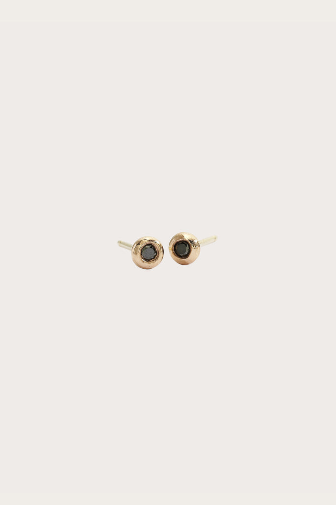 Mini Diamond Studs, Rose Gold by Blanca Monros Gomez