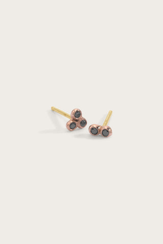 Asymmetric Seed Studs, Rose Gold