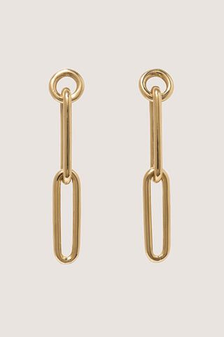 Chain Earrings, Gold