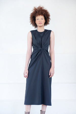Christian Wijnants - DEENA cotton dress, black