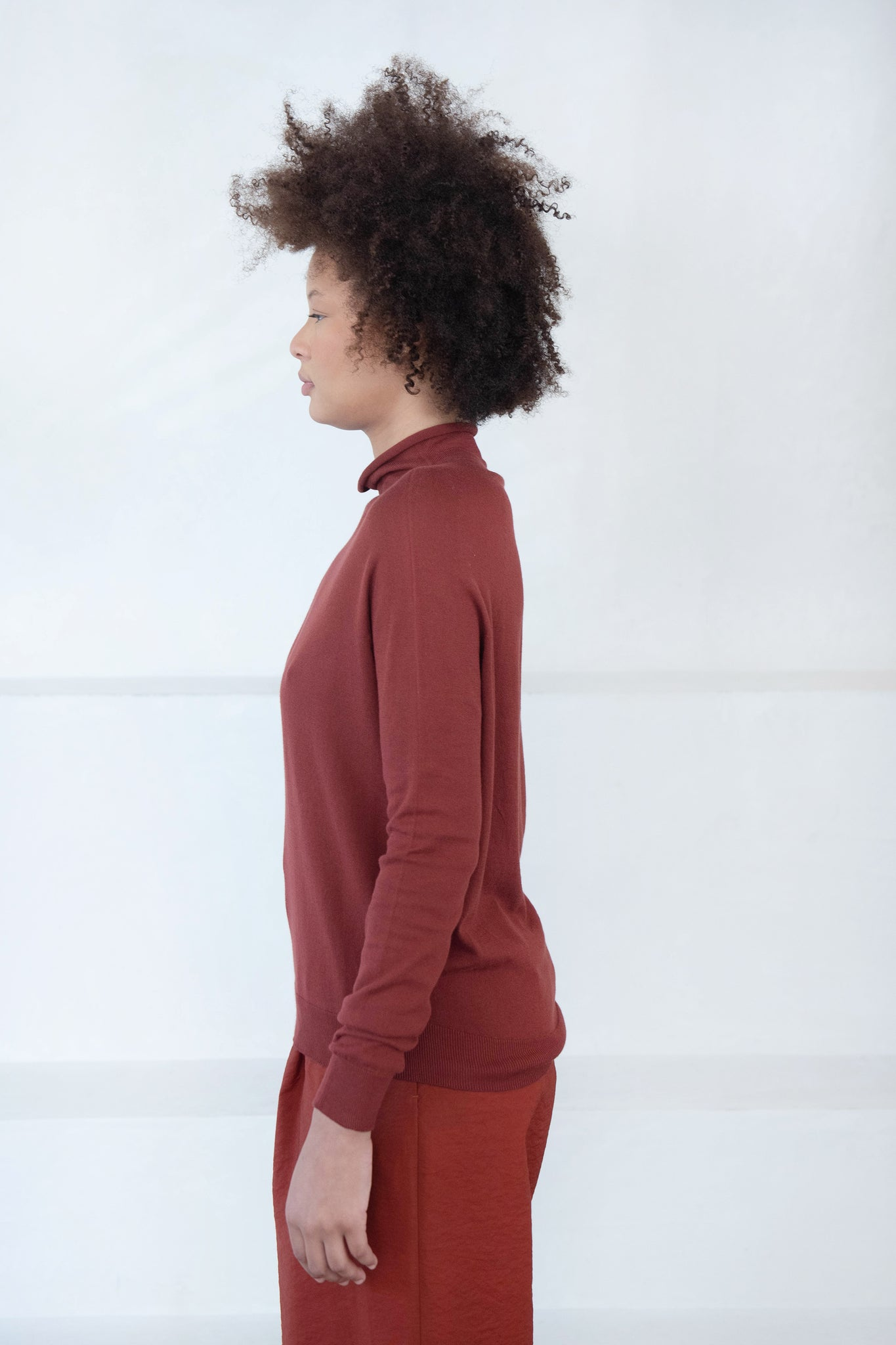Christian Wijnants - kamila knit turtleneck, rust