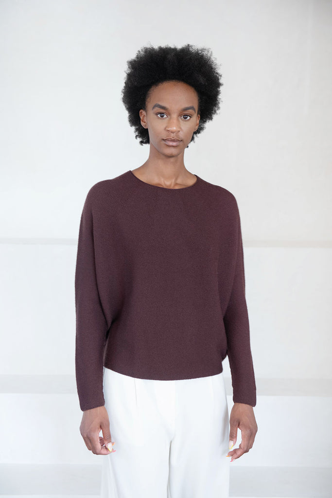 Christian Wijnants - KOPA merino wool sweater, bordeaux