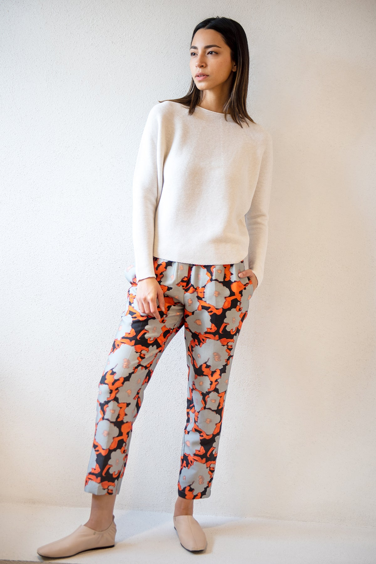 Christian Wijnants - PERUN pull on pant, poppy